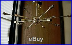 Polished Brass Atomic Sputnik Starburst Chandelier MID Century Modern