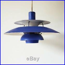 Poul Henningsen PH 5 Louis Poulsen Original Danish Mid Century Atomic Ranch Lamp