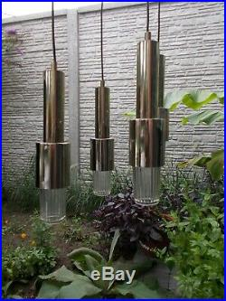 Raak Mid Century Modernist Chandelier Era Eames Sputnik Atomic Chrome 4 Lights