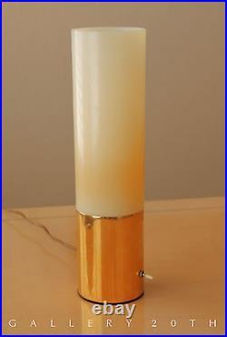 Rare! MID Century Modern Atomic Cylinder Lamp! Sputnik Panton 60s Vtg Brass Desk