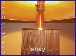 Rare! MID Century Modern Tiki Lamp! 50's Robsjohn Gibbings 40's Atomic Vtg Retro