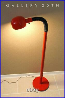 Rare Red MID Century Modern Sonneman Tube Floor Lamp! Atomic Vtg 60s Panton Era