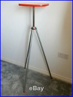 Retro mid century tripod plant stand lamp side end table vintage atomic sputnik