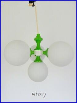 Richard Essig Kaiser Leuchten atomic sputnik green glass midcentury light retro