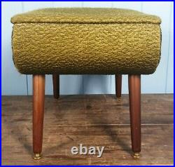 SEWING BOX 1950s ATOMIC DESIGN MID-CENTURY GREEN MADE IN ENGLAND