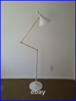 STILNOVO Eames ARTELUCE Adjustable Z FLOOR LAMP Mid Century DECO Atomic WHITE