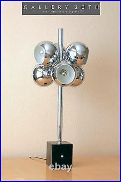 Space Age Chrome MID Century Modern Sonneman Molecule Table Lamp! 50s 60s Atomic