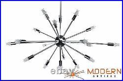 Sputnik Atomic Starburst Light Lamp Chandelier Chrome Mid Century Modern Eames
