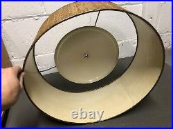 Stiffel Mid Century Modern Atomic Sputnik Table Lamp with Orig shade 1950s Vintage