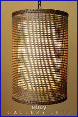 Sweet! MID Century Danish Modern Hanging Swag Lamp! 50's Vtg Atomic Wegner 60's
