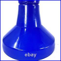 VINTAGE Cobalt BLUE Mid-Century Danish Modern 60s TAM TAM STOOL Denmark ATOMIC