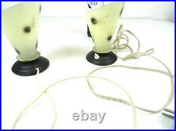 Very Rare Original Atomic 50s MID Century Pair Set Of2 Vintage Table Lamps