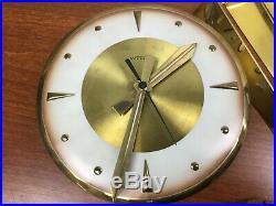 Vintage 34 MID CENTURY EAMES ATOMIC WELBY SUNBURST STARBURST WALL CLOCK -ASIS