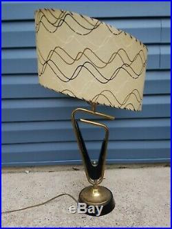 Vintage 50s Retro ATOMIC MCM Z Majestic Lamp Original Shade Mid Century Modern