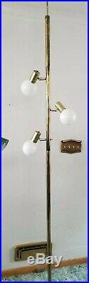 Vintage 60s Pole Tension Floor Lamp Mid Century Danish Modern Eames Knoll Atomic