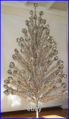 Vintage 7ft Aluminum Christmas Tree WithColor wheel 1960s Mid Century Atomic era