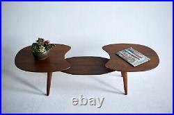 Vintage Ace High MID Century Walnut Coffee Table Atomic Modern Danish MCM Boho