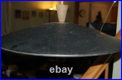 Vintage Atomic Flying Saucer Ufo Disc MID Century Modern Ceiling Light Fixture