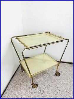Vintage Bar Cart, 50s Dry Bar, Mid Century Bar Cart, Serving Cart Dry Bar Atomic