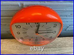 Vintage Clock Wall Mid Century Gorenje Space Age UFO Atomic Design Plastic Pop
