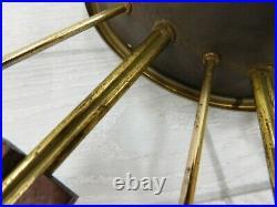 Vintage Elgin Mid Century Modern Atomic Starburst Sunburst Large 30.5 Clock