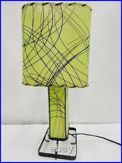 Vintage MCM Fiberglass Table Lamp Boomerang Atomic Rare Superb Style Mid Century