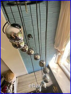 Vintage Meblo Guzzini Cascade Pendant Mid Century Space Age Lamp Atomic Design