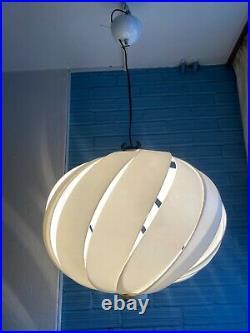 Vintage Meblo Guzzini Mid Century Pendant Space Age Lamp Atomic Design Light