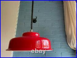 Vintage Meblo Guzzini Mid Century Pendant Space Age UFO Lamp Atomic Design Light