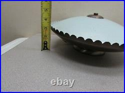 Vintage Mid Century Atomic Ceiling Light Fixture UFO Flying Saucer Space Age