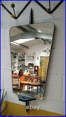 Vintage Mid Century Mirror Atomic Sputnik Mirror Mid-Century Rocket Mirror