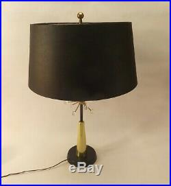 Vintage Mid Century Modern Lightolier Brass & Acrylic Atomic Sputnik Table Lamp