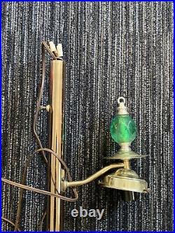 Vintage Mid Century Modern MCM Pole Lamp Retro Atomic Era Glass Shades