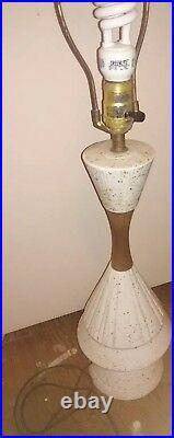 Vintage Mid Century Modern Retro 50's Ceramic Table Lamp atomic Beautiful
