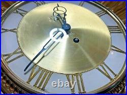 Vintage Mid-Century Modern Syroco Star Sunburst Wall Clock Atomic Kitsch space