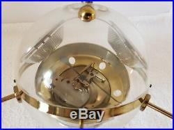 Vintage Mid Century Modernist Brass Atomic Age Sputnik Weather Station Barometer