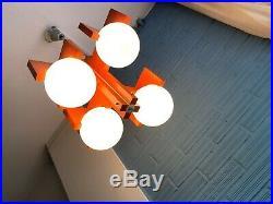 Vintage Mid Century Pendant Space Age Lamp Ceiling Atomic Design Light Cubist