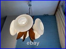 Vintage Mid Century Pendant Space Age Lamp Ceiling Atomic Design Light UFO