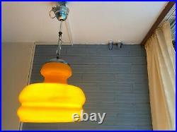 Vintage Mid Century Pendant Space Age Lamp Eyeball Atomic Design Light Glass UFO