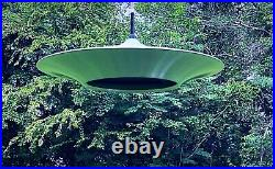 Vintage Mid Century Space Age Atomic Flying Saucer Hanging Ceiling Pendant Lamp
