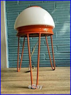 Vintage Mid Century UFO Space Age Lamp Table Floor Atomic Design Light Pop Art