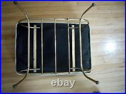 Vintage Modern Mid-century Steel Wire Legs Atomic Age Sputnik Ottoman Footstool