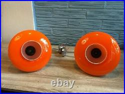 Vintage Pair of Sconce Space Age UFO Lamp Atomic Design Light Mid Century Wall