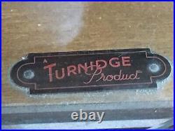 Vintage Retro MID Century Atomic Kitsch Turnidge Display Glass Cabinet Bookcase