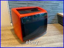 Vintage TV Set Space Age Mid Century Iskra Television Orange Design Atomic Pop