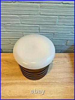 Vintage Table Space Age UFO Wood Lamp Atomic Design Light Mid Century 1960's