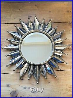 Vintage Twos Company Sunburst Atomic Mirror MID Century Modern 60's 70's Style