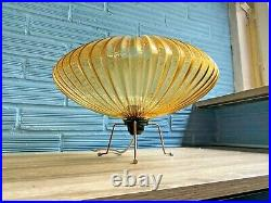 Vintage UFO Mid Century Space Age Lamp Table Atomic Design Light Flying Saucer