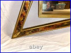 Vtg Illinois Moulding Co Mid Century Mod Atomic Shadow Box Mirror Shelf Bow Tie