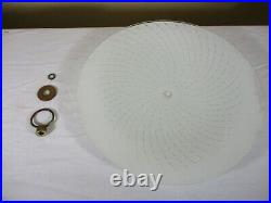 Vtg Mid Century Atomic Pull Down UFO Saucer Kitchen Table Ceiling Light Fixture